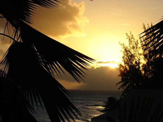 Barbados Beach Club:                   sunset from room