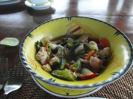 Villa Santai:                   Food