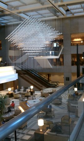 Sheraton Kansas City Hotel at Crown Center:                   Gorgeous lobby