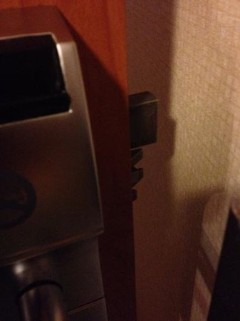 Motel 6 Milford: deadbolt with a mind of its own