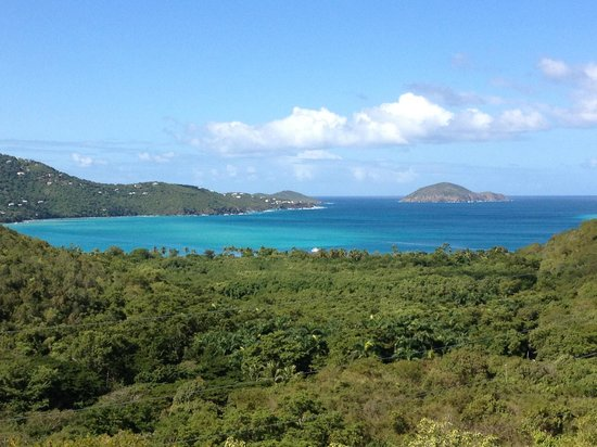 Magens Point Resort:                   Magen's Bay, 1/2 mile down the hill