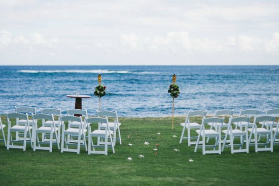 Courtyard Kaua'i at Coconut Beach:                   Ceremony Site (There are a couple choices)