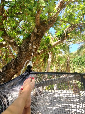 Tokoriki Island Resort:                   Our Hammock