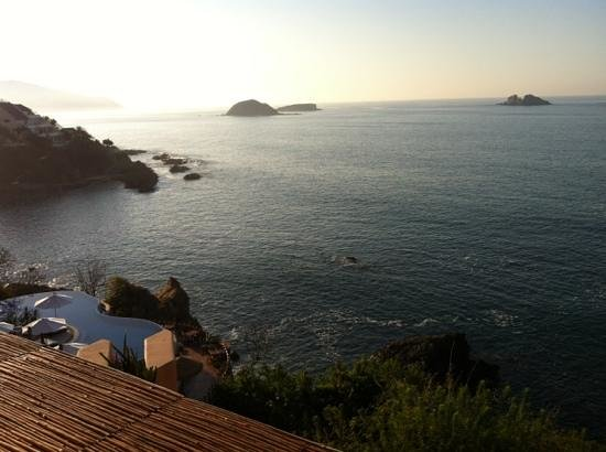Capella Ixtapa:                   morning view, fresh water pool in foreground