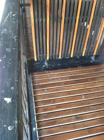 โรงแรม เดอ ลานนา:                   Disgusting room deck -- covered in poop
