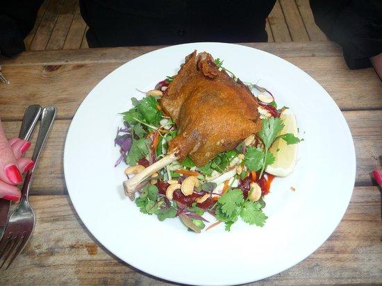 Food at Wharepuke:                   Duck