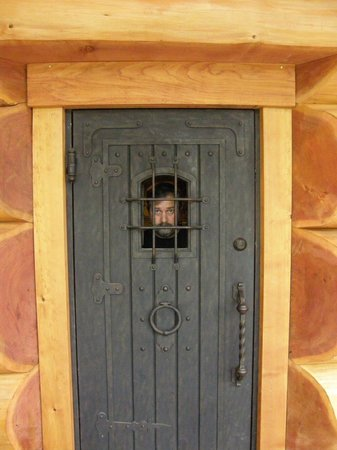 Florencia Bay Hideaway:                   Copper Cabin door