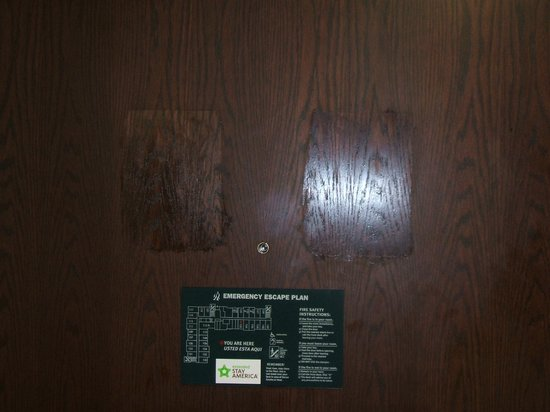Extended Stay America - Tampa - Airport - Spruce Street:                   Rate sheets ripped off door.