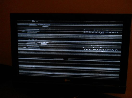 Hotel Bonaventure Montreal: tv after repair