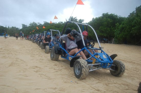 Ocean Blue & Sand:                   Dune Buggy excursion