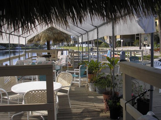 Hideaway Waterfront Resort & Hotel:                   Covered area of Deck
