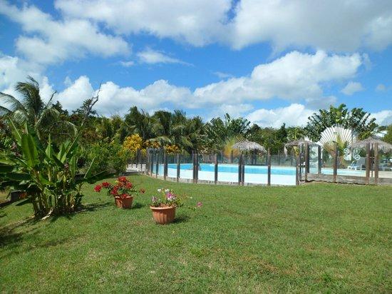 Residence Hoteliere Les Cayalines:                                     La piscine au milieu du jardin