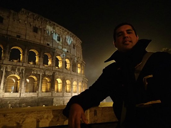 Fortyseven Hotel Rome:                   Coliseum on New Years 2013