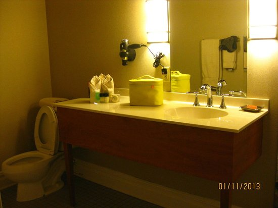The Independent:                   Bathroom of King suite