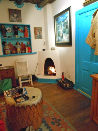 La Dona Luz Inn, An Historic Bed & Breakfast:                   kiva fireplace (that Paco BUILT)