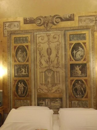 Hotel Romanico Palace:                   Headboard in my room