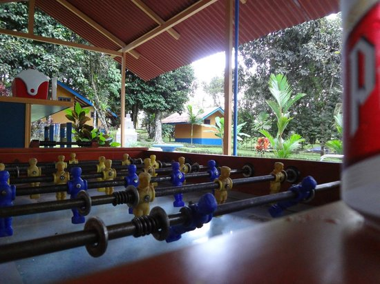 Cerro Chato Eco Lodge:                   Foozeball by the pool.