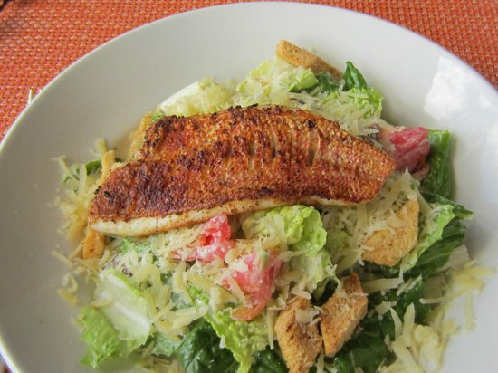 The Bay at Nonsuch: Blackened Snapper Ceasar Salad