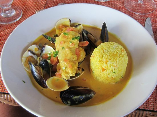 The Bay at Nonsuch: Chef Mitchell's signature dish Bouillabaisse
