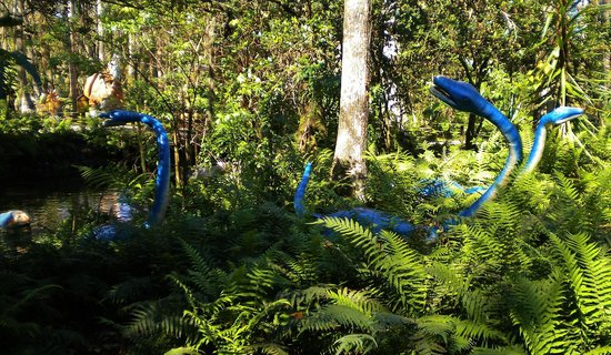 Dinosaur World:                   The native Florida plant life lends to the effect of the day of the dino.