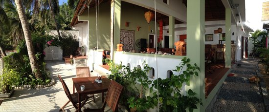 Haven Vietnam:                                     Haven's main entrance, outdoor dining area and the pathway t
