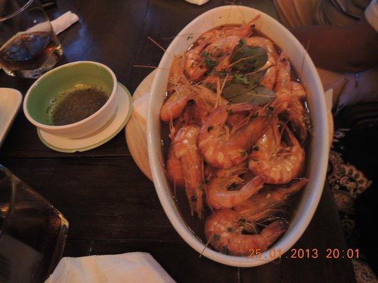La Mancha Restaurant:                   Креветки!!!