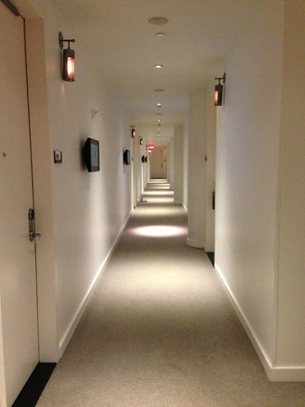 Le Meridien Chambers Minneapolis:                   Cool hotel hallways