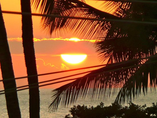 Island Surf Condominiums:                   Maui sunset from Island Surf, Kihei