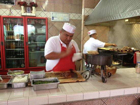 Tacos el Poblano :                                     Tacos made to order.