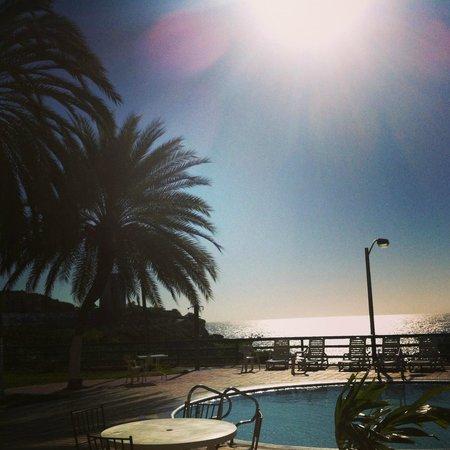 Flamingo Beach Hotel: Área de la piscina