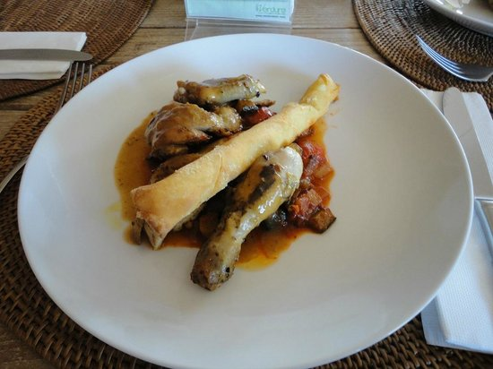 The Dipan Resort Petitenget:                   Food - Grilled Half Baby Chicken