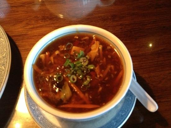 China Cottage: Hot and Sour soup that was mostly not sour