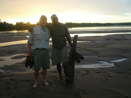 Chilo Gorge Safari Lodge:                                     Crossing the Save river after another wonderful and happy da