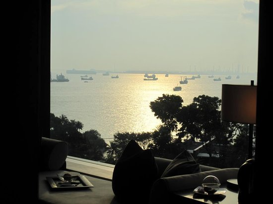 Capella Singapore:                   View from the bedroom's window