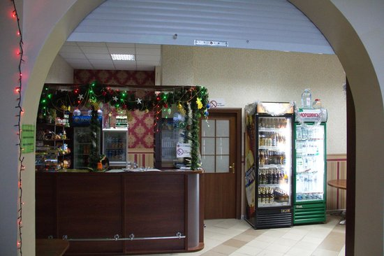Voskhod Hotel:                   Стойка регистрации