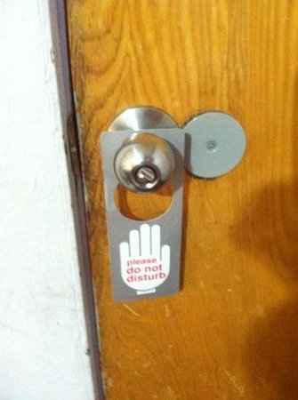Paradise Inn:                   Poorly functioning doorlock