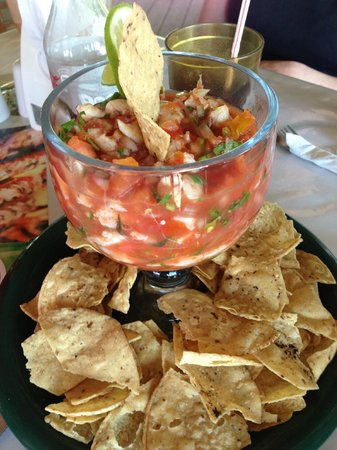 Bird's Isle: A huge portion of delicious conch ceviche