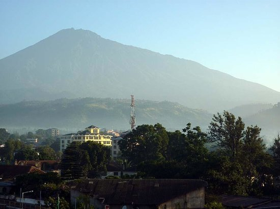 Arusha Crown Hotel: Mount Meru from Room 502 #2