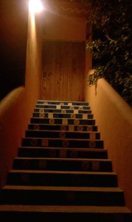Posada La Poza:                   Steps to our room on the 2nd floor