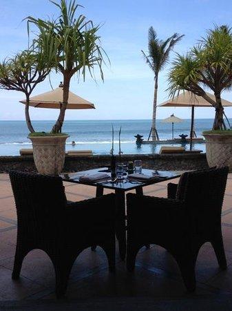 The Legian Bali :                   Breakfast view