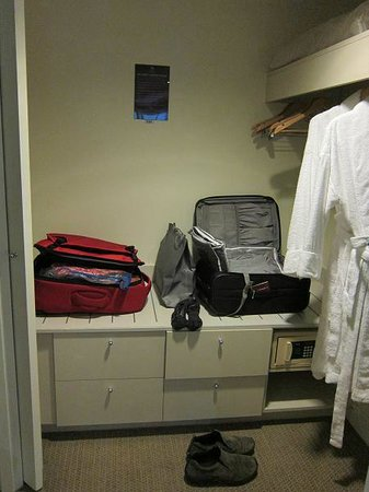 Sheraton on the Park, Sydney:                   Ample storage in the walk in robe