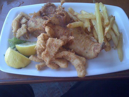 Quayside Cabin : Hake, Calamari and Chips