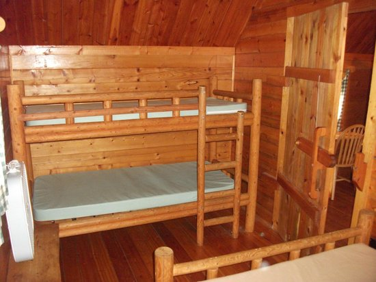 Placerville KOA:                   Back bedroom with bunk beds.
