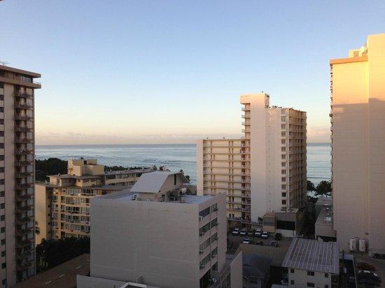 Hyatt Place Waikiki Beach:                   Ocean view from high floor