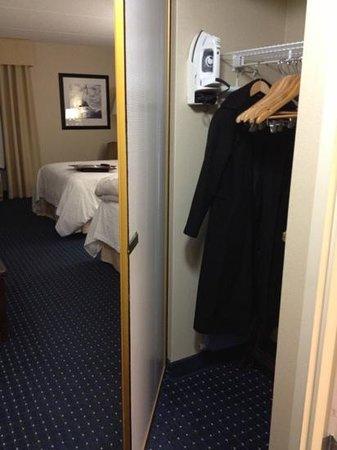 Hampton Inn Dulles-Cascades : closet door was like finding a fun treasure