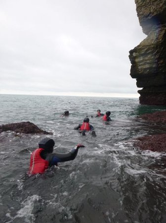 Land & Wave:                   Amazing first coasteering experience - highly recommended!