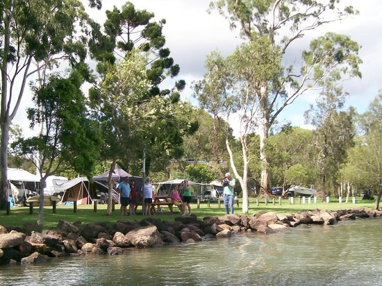 North Coast Holiday Parks Ferry Reserve :                   River walk & BBQ area