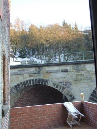 Winterstimmung Dachterrasse Pfaelzer Hof Idar-Oberstein