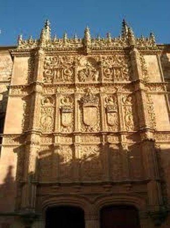 La Rana de Salamanca:                   fachada de la universidad de salamanca,busca la rana.