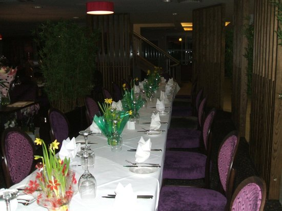 Quality Hotel Boldon:                   The dining area for the party was discreetly sectioned from the main restauran